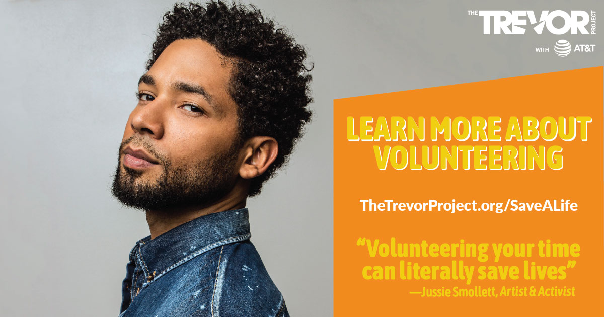 trevor  at u0026t  and jussie smollett  u2013 the trevor project