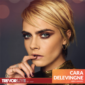Cara Delevingne to Be Honored at The Trevor Project's