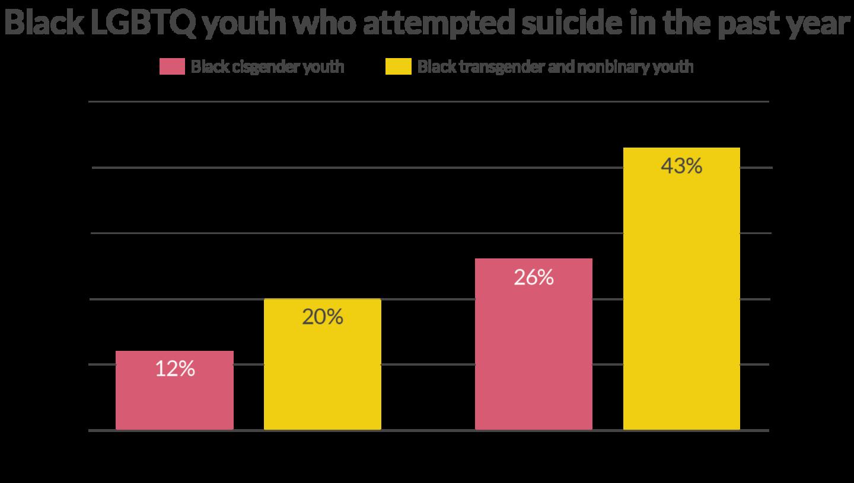 Black LGBTQ Youth Suicide Attempt Statistics