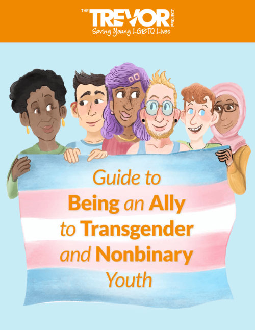 Cover of Guide to Being an Ally to Transgender and Nonbinary Youth