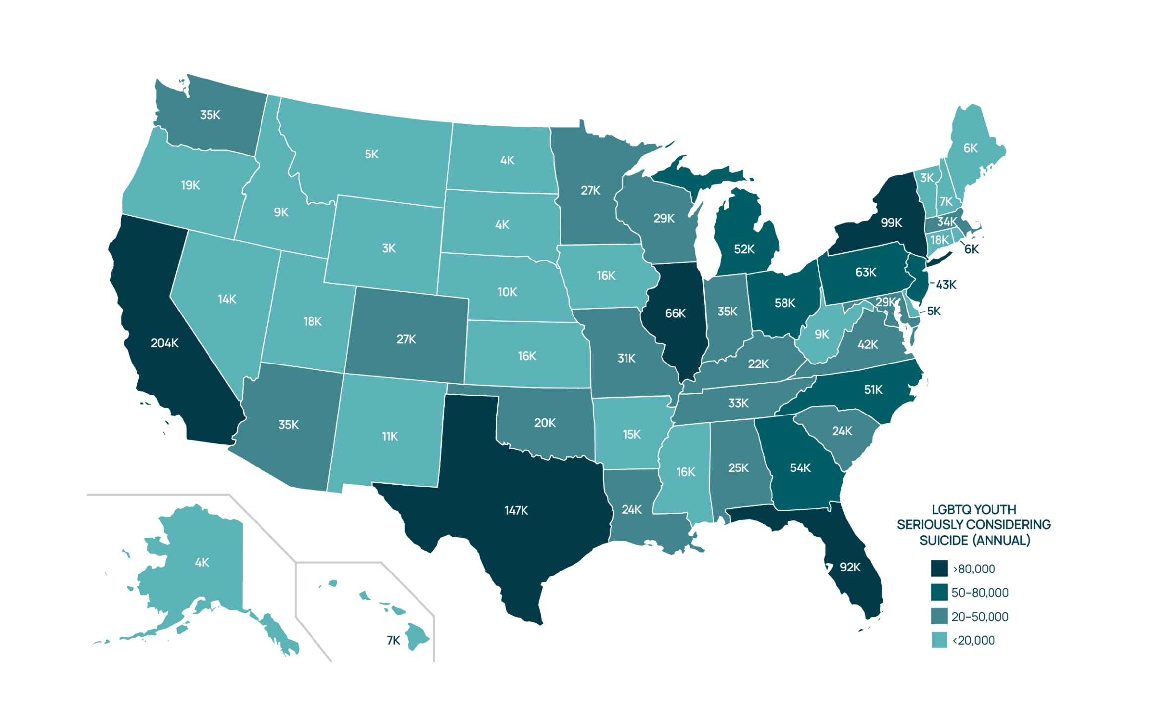 LGBTQ youth suicide map